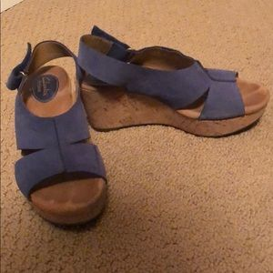 Clarks Artisan Cork Wedge Sandals